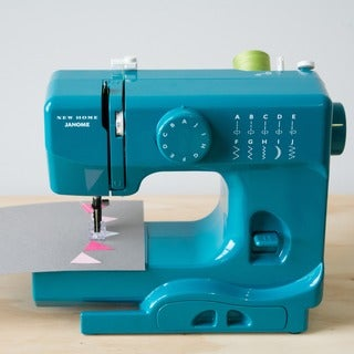 Janome Marine Magic Basic, Easy-to-Use, 10-stitch Portable, 5 lb Compact Sewing Machine with Free Arm