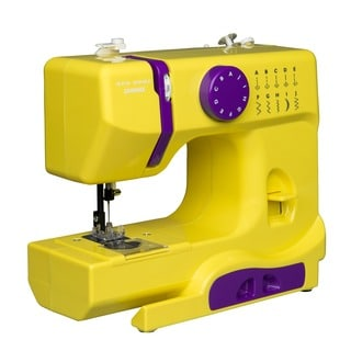 Janome Citrus Circus Basic, Easy-to-Use, 10-stitch Portable, 5 lb Compact Sewing Machine with Free Arm