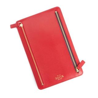 Royce Leather RFID Blocking Saffiano Leather Zippered Document Holder