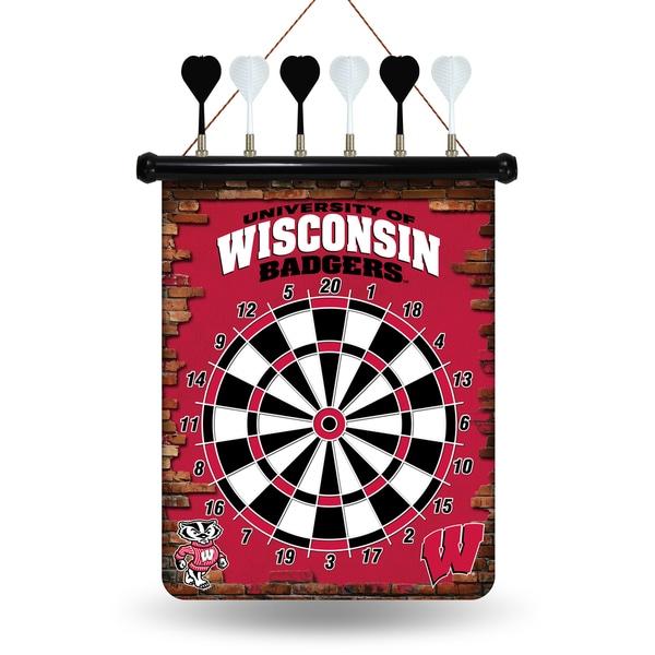 Wisconsin Badgers Magnetic Dart Set