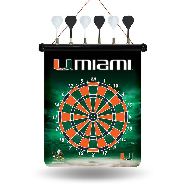 Miami Hurricanes Magnetic Dart Set