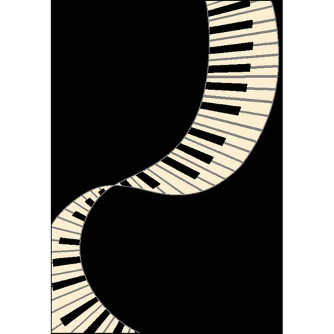Piano Tribute Area Rug by Greyson Living - 3'9 x 5'6