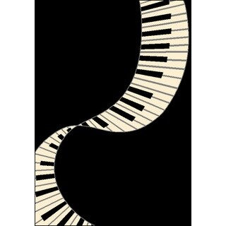 Piano Tribute Area Rug by Greyson Living (3'9 x 5'6) - 3'9 x 5'6