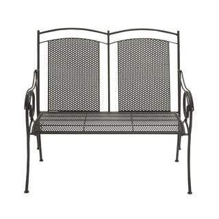 44-inch Great Outdoors Dark Grey Rustic Tin All-weather Bench