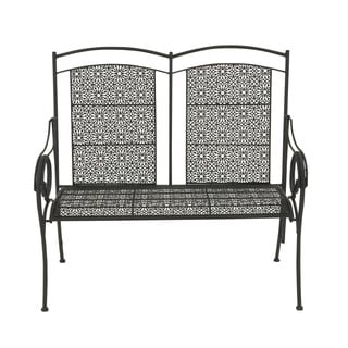 Great Outdoors Black Rustic Tin All-weather Bench