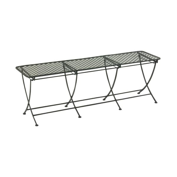 Shop 60 Inch Great Outdoors Black All Weather Iron Bench