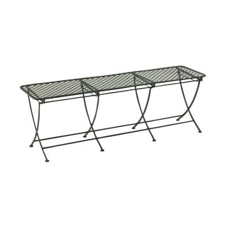 60-inch Great Outdoors Black All-weather Iron Bench