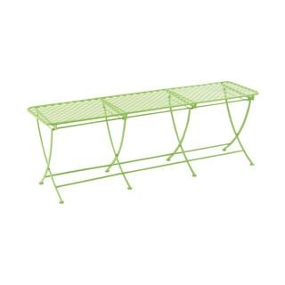 60-inch Great Outdoors Spring Green All-weather Iron Bench