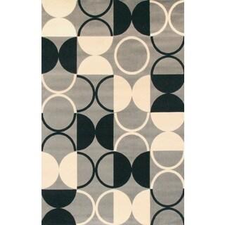 Greyson Living Pluto Rectangle Grey Area Rug (5'3 x 7'6)