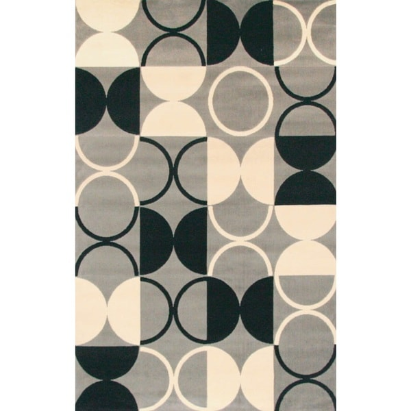 Pluto Rectangle Grey Area Rug by Greyson Living (5'3 x 7'6)