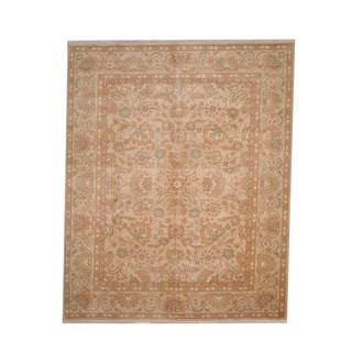 Herat Oriental Afghan Hand-knotted Vegetable Dye Oushak Wool Rug (8'2 x 10')