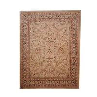 Herat Oriental Afghan Hand-knotted Vegetable Dye Oushak Wool Rug (7'9 x 10'3) - 7'9 x 10'3