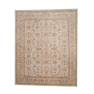 Herat Oriental Afghan Hand-knotted Vegetable Dye Oushak Wool Rug (8' x 9'9)