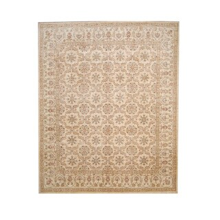 Herat Oriental Afghan Hand-knotted Vegetable Dye Oushak Wool Rug (8' x 10') - 8' x 10'