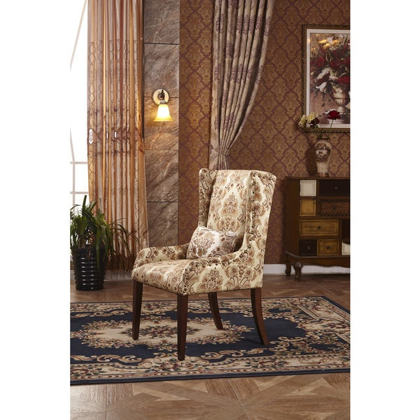 Clic Fl Sloped Arm Hostess Dining Chair With Pillow