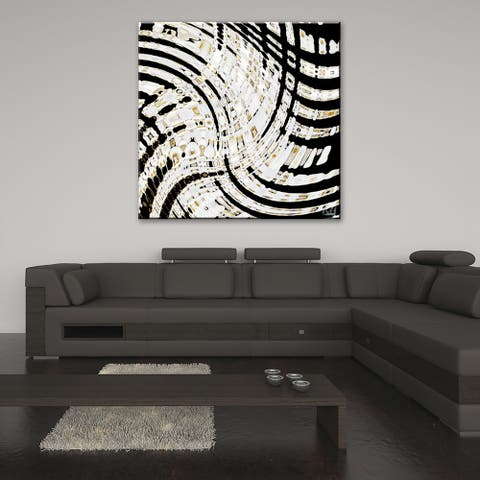 Opalescent Abstract II' Abstract Wrapped Canvas Wall Art