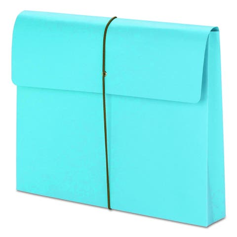 Smead 2 Inch Accordion Blue Expansion Wallet with String (Box of 10)