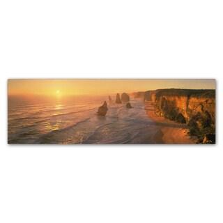 John Xiong 'Seashore Sunrise' Canvas Art