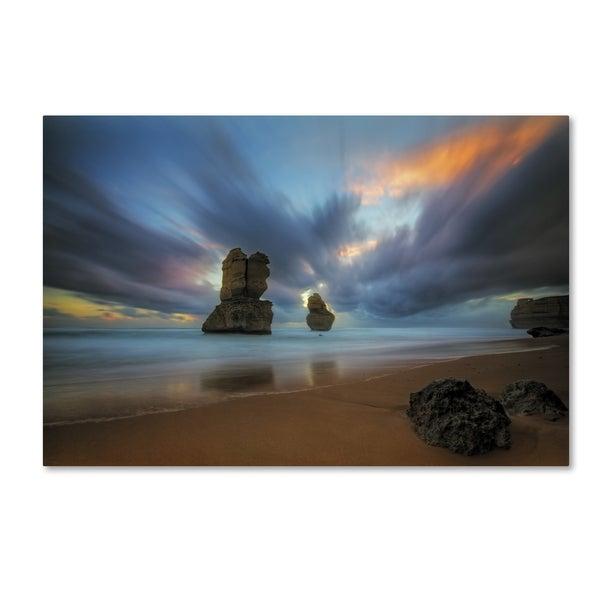 Lincoln Harrison 'Beach at Sunset 2' Canvas Art