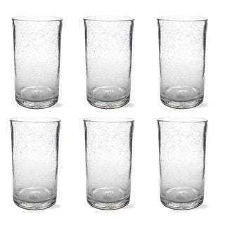 Tag Bubble Glass Clear Tumbler (Set of 6)