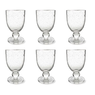 Tag Bubble Glass Clear Goblet (Set of 6)