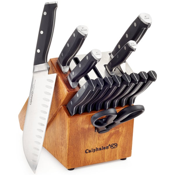 Vintage Kitchen Knives For Sale: Shop Calphalon Classic Self-Sharpening 15-Piece Cutlery Set With SharpIN Technology