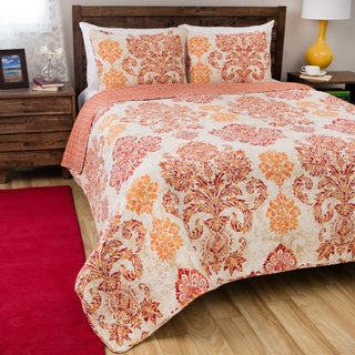 Greenland Home Fashions Tuscany Cotton 3-piece Quilt Set