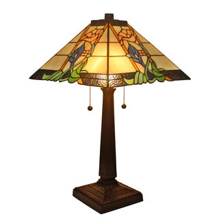Amora Lighting Tiffany Style Mission 23-inch Table Lamp