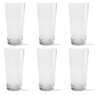 Tag Bubble Glass Clear Pub Glass (Set of 6)