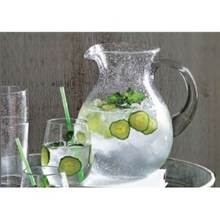 Tag Bubble Glass Clear Pitcher