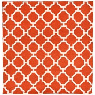 Floor Paprika Pattern Outdoor Rug (8' x 8')