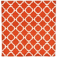 Floor Paprika Pattern Outdoor Rug (8' x 8')