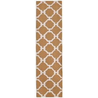 Floor Khaki Pattern Outdoor Rug (2' x 8')