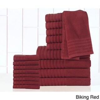 Casa Platino - 100-percent Egyptian Cotton 600 GSM 18-piece Towel Set (Option: Red)