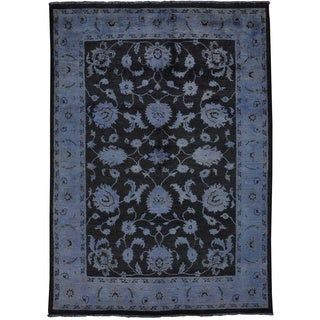 Overdyed Peshawar 100-percent Wool Hand-knotted Oriental Rug (5' x 7')