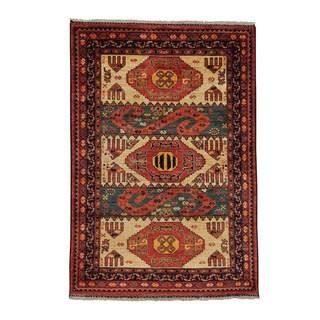 Afghan Ersari 100-percent Wool Hand-knotted Oriental Rug (4' x 6')