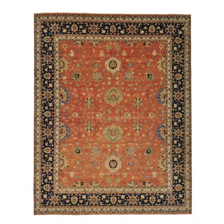 Antiqued Heriz Recreation Hand-knotted Oriental Rug (11'9 x 14'10)