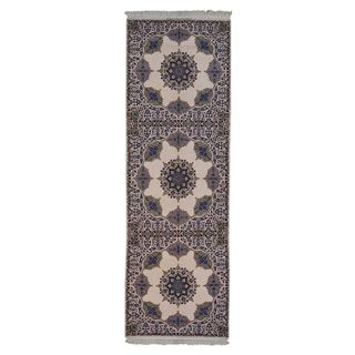 Wool and Silk Persian Esfahan 500 kpsi Handmade Rug (4'2 x 12'8)