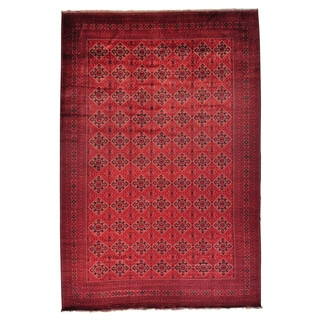 Mansion Size Afghan Khamyab Oriental Hand-knotted Rug (13'1 x 19'8)