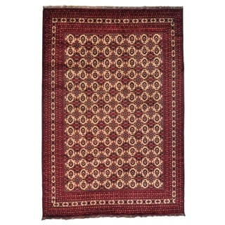 Oversize Afghan Khamyab Oriental Hand-knotted Rug (13' x 19'4)
