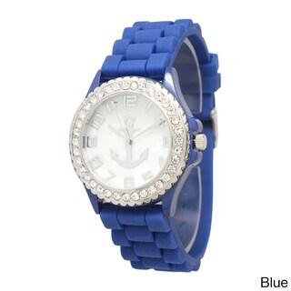 Olivia Pratt Anchor Emblem Silicone Watch