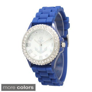 Olivia Pratt Anchor Emblem Silicone Watch