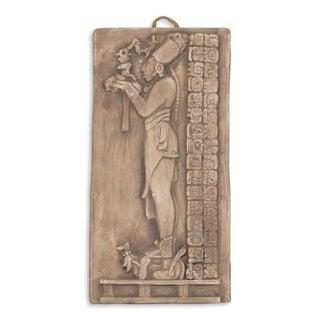 Handmade Ceramic 'Maya Priest's Offerings in Grey' Wall Panel (Mexico)