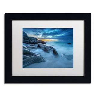Mathieu Rivrin 'Blue Hour for a Blue Ocean' Canvas Framed Art