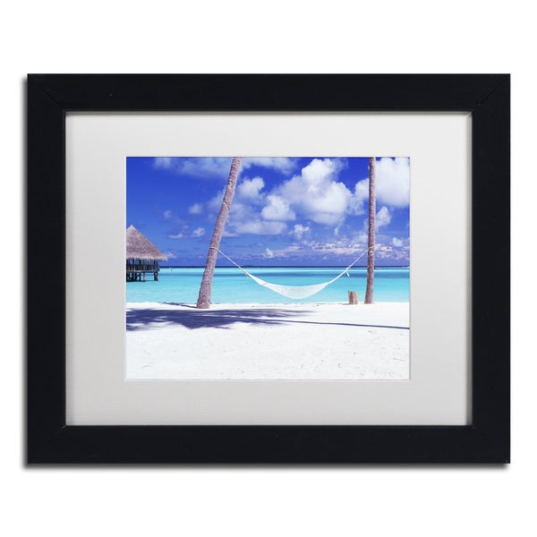 David Evans 'View for One-Maldives' Canvas Framed Art