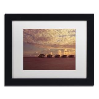David Evans 'Sunset-Jumeirah Vittaveli' Canvas Framed Art