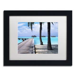 David Evans 'Pathway to Paradise' Canvas Framed Art