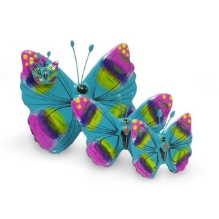 Set of 3 Ceramic 'Solola Butterflies' Sculptures (Guatemala)