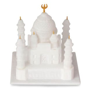Handcrafted Marble 'Taj Mahal' Sculpture Medium , Handmade in India