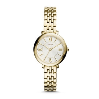 Fossil Woman's ES3798 Small Three-Hand Stainless Steel Gold Tone Watch